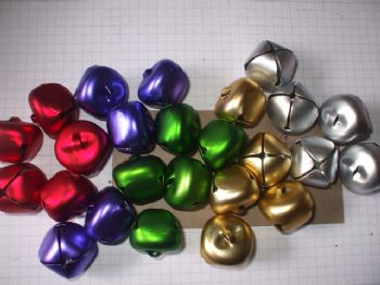 25mm Matte Metallic Jingle Bells